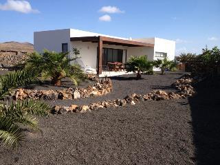 Casa moderna con gran jardín