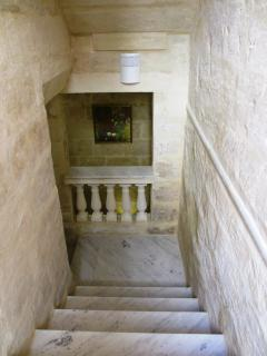 Staircase that leads to hallway