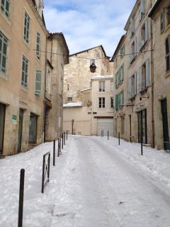 street view in winter after a huge snow fall in January 2012