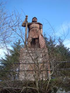 Statue of William Wallace, near Dryburgh