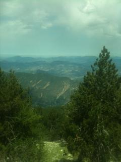 Views from the road up Mt.Ventoux