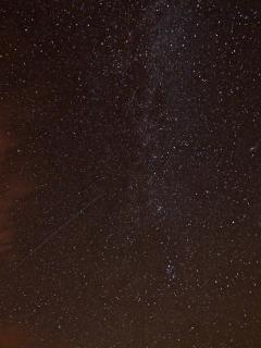 Incredible view of Milky Way and shooting star photographed outside the cottage