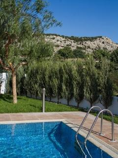 Overflow Swimming Pool with views of Peyia Hills
