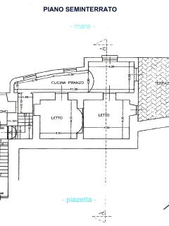 Floor plan of the residence, about 70 qm plus private garden terrace