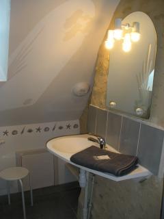 Salle d'eau privative pour la chambre côté jardin