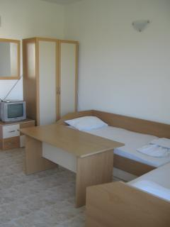 Room with two beds