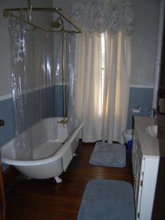 Hallway antique bathroom