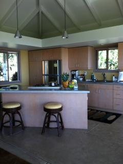 Modern kitchen with gas oven and stove