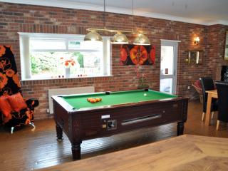 Pool table from bar area
