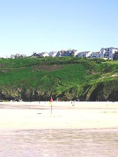Apartment viewed from Carbis Bay beach