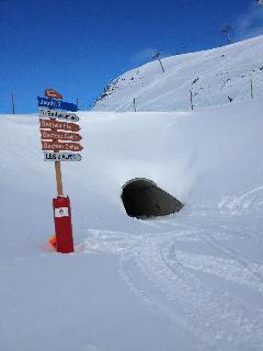 tunnel in ski area