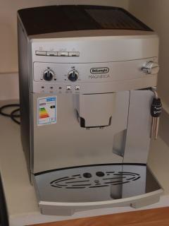 Enjoy a blue Mountain Coffee on the espresso machine