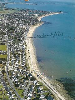 vue aériennde de damgan et de sa longue plage
