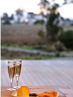 A glass of bubbles on the deck anyone?