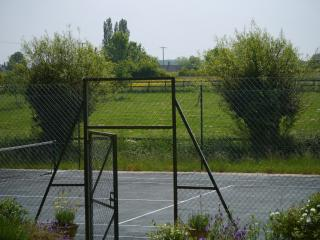 View over the tennis court