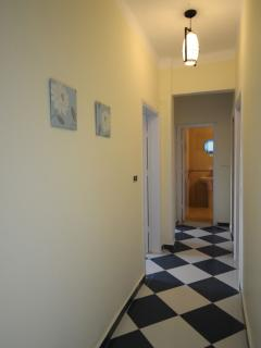 The hall to the bathroom
