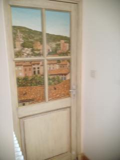 Trompe D'oeuil on 2nd floor exit door to terrace.