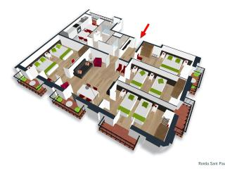 Four Bedroom Apartment - Floor plan ... Feel at home with your friends or family