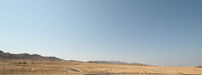 The lovely view towards the Sinai Mountains