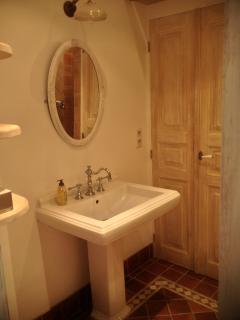 Masterbath with elegant designer sink