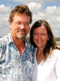 Here we are, Alan and Susan Carle, and we welcome you to our beautiful Botanical Ark Retreat