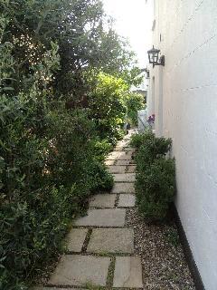 Front door path, to garden