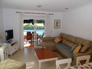 Lounge diner with air conditioning, wifi, UK TV + Spanish TV + DVD