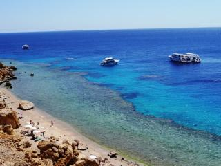 Ras Katy beach and coral reef for snorkelling, only within a 2 minute walking distance