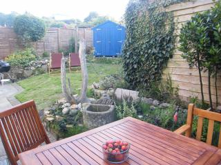 Enclosed private garden and outdoor seating & BBQ