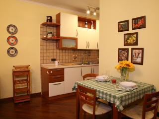 Open space: cucina, pranzo e living