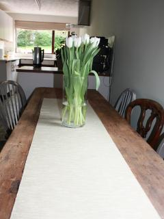 Large family dining space
