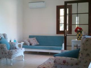 Lounge with pale color furnitures.