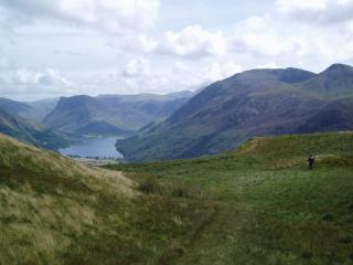 From Low Fell looking across Crummock to Fleetwith Pike