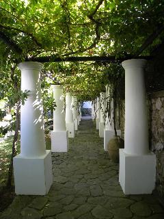 ingresso della villa