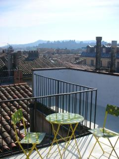 Roof Terrace with views to La Cite