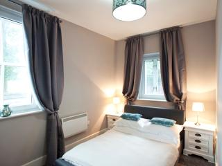 The dual aspect double bedroom