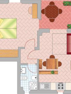 Interior-map of the Two-roomed apartment