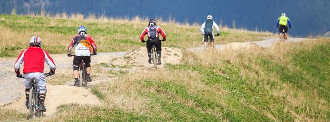 Stupendi percorsi bike per tutti i livelli...downhill andrenalinico compreso!