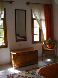 Bedroom 1 - double with balcony. It overlooks the garden.