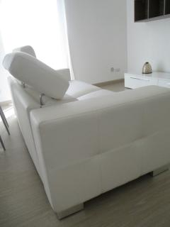 Very comfortable leather sofa bed
