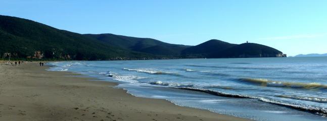 The local unspoilt beach of Marina di Alberese