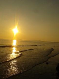 Sunset at Harlech beach July 2013