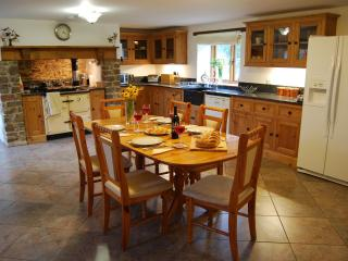 The kitchen/diner is superbly equipped, outstandingly spacious and inviting.