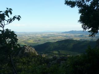 View of the Maremma Plain and the sea beyond. Seen from all windows  in the house.