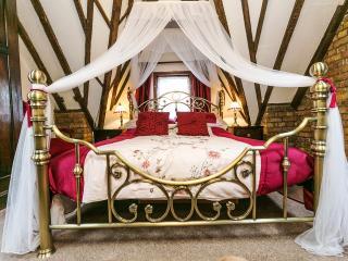Romantic canopied bed