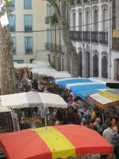 Saturday is market day and fills the old town with bustle and colour