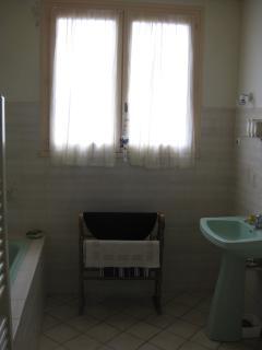 The downstairs bathroom, including bidet.