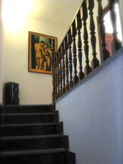 Stairway up to second floor