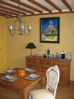 The inside dining room.