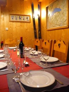 Dinner time at Chalet Clovis